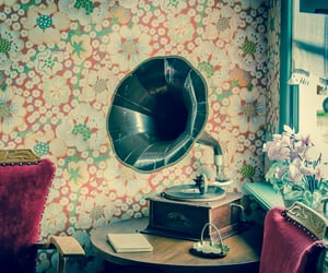 gramophone, vintage, and zimmer image