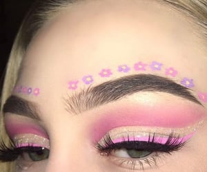 pink, make up, and girl image