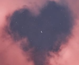 sky, wallpaper, and heart image