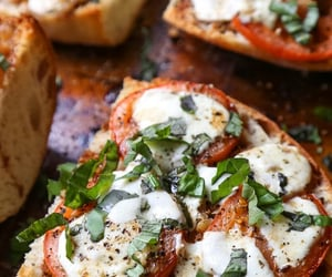 food, yummy, and pizza image