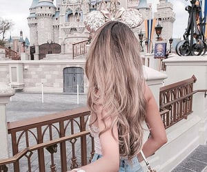 girl, hair, and disney image