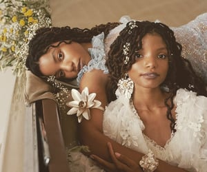 beauty, dreads, and flowers image