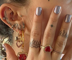 tattoo, aesthetic, and nails image