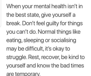 break, health, and issues image