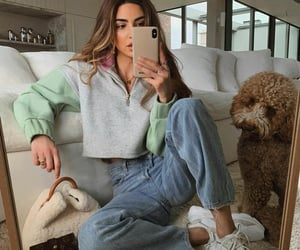 fashion, dog, and hair image