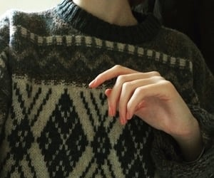female, green, and sweater image