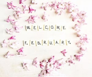 february, month, and welcome image