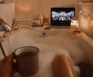 candles, relaxing, and self love image