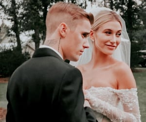 couple, wedding, and justin bieber image
