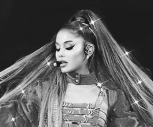black and white, wallpapers, and ariana grande image