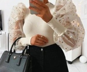 beige, sleeves, and trendy image