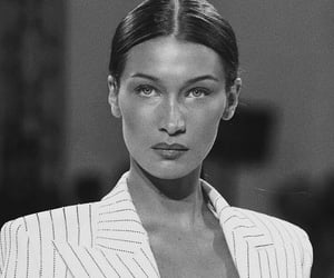 bella hadid, model, and alexandre vauthier image