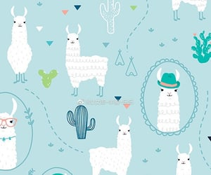 llama, print, and prints image