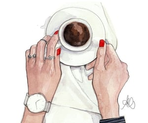art, cup, and wait image