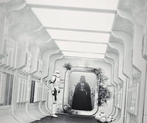 a new hope, hallway, and darth vader image