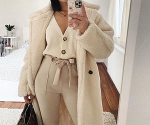 coat, cozy, and neutral image