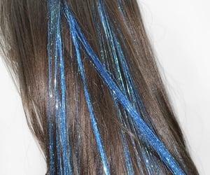 azul, belleza, and glitter image