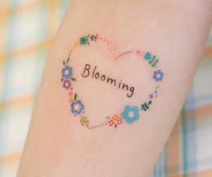 arm, blooming, and colorful image