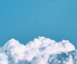 clouds, wallpaper, and blue image