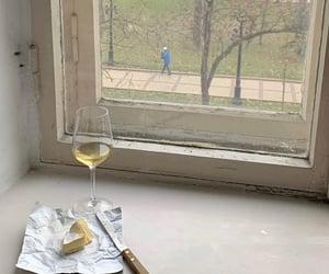 cheese, window, and wine image