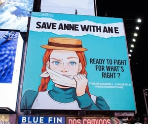 anne, times square, and netflix image