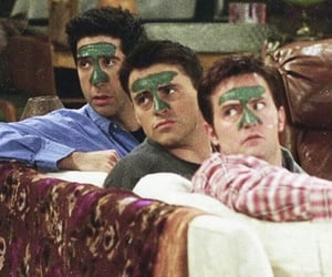 friends, chandler, and ross geller image
