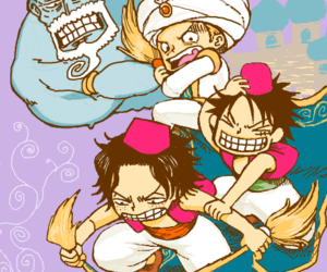 luffy, one piece, and ace image