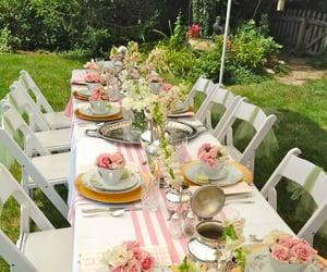 garden party, tea, and summer ocean breeze image