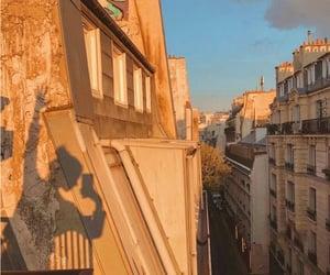 city, female, and light image