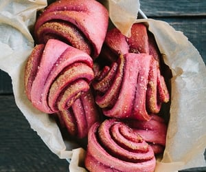 bread, cinnamon roll, and beetroot image