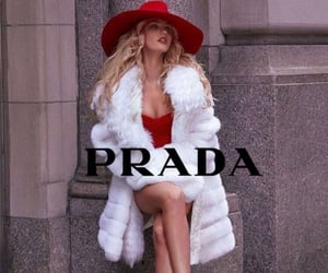 Prada, fashion, and red image