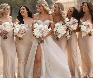 bride, bridesmaids, and happy image