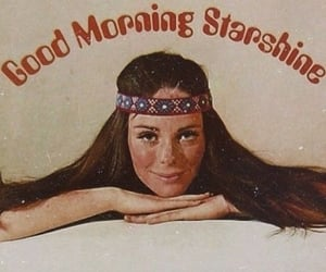 hippie, 60s, and good morning image