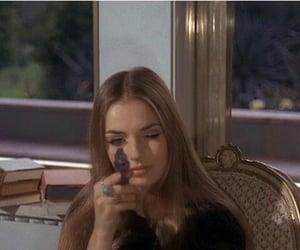 girl, vintage, and gun image