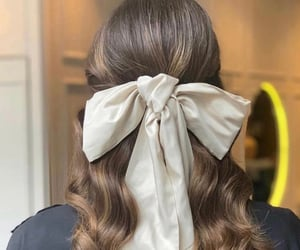 bow, bride, and hair image