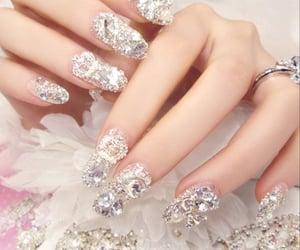 beauty, glitter, and nail fashion image
