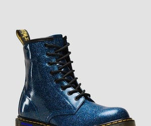 dr martens and blue glitter boot image