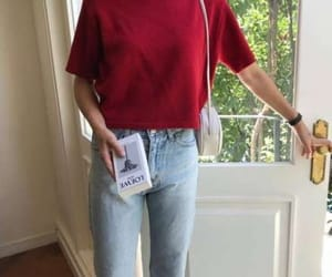 clothes, korean, and red image