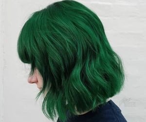 color hair, green hair, and hair dye image