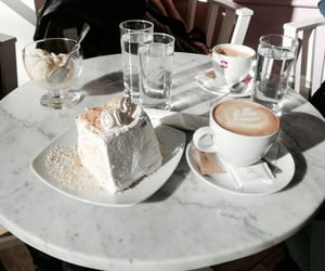 cake, coffee, and food image