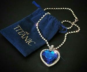 titanic, blue, and diamond image