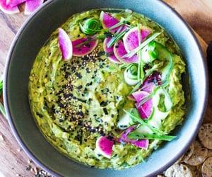 vegan, guacamole, and vegetarian food image