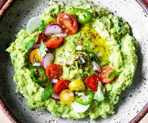 vegan, vegetarian, and guacamole image