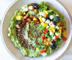 dip, vegetarian, and guacamole image