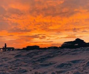 beach, gif, and orange image