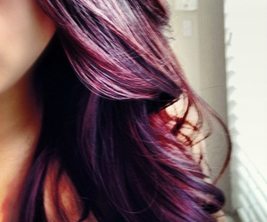 hair, purple, and red image