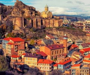 buildings, tbilisi, and travel image
