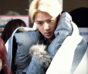 blonde, korean, and sehun image