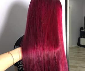 purple hair color and claret hair color image