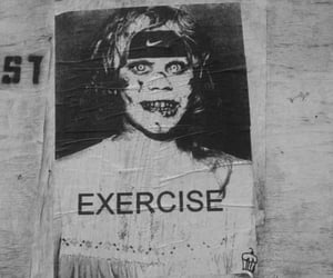 exercise, funny, and b&w image